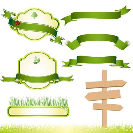 green energy: eco frame Illustration