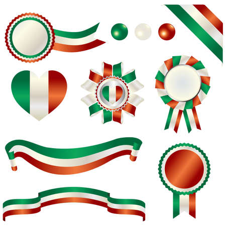 set of italy Vector
