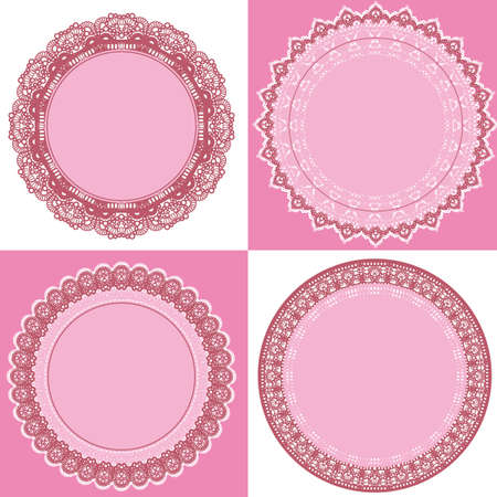 circle lace frame Stock Vector - 11650299