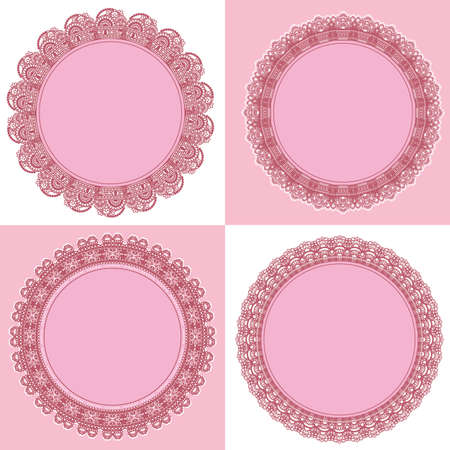 circle lace frame Vector