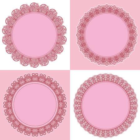 Del marco del círculo de encaje Foto de archivo - 11650302