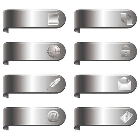 mail clip icon set