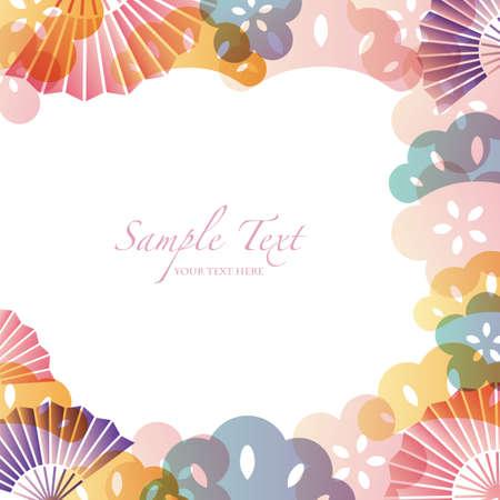 japanese apricot flower: japanese motif background Illustration