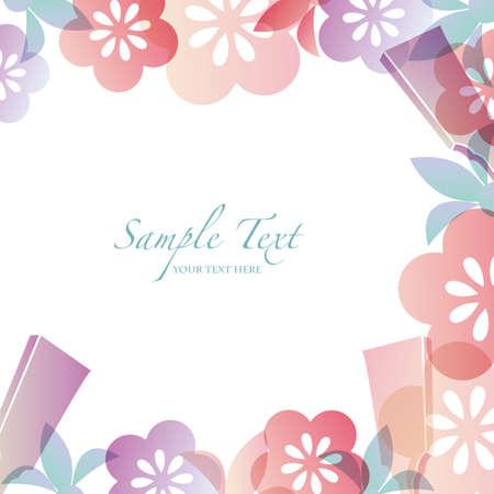 shuttlecock: japanese motif background Illustration