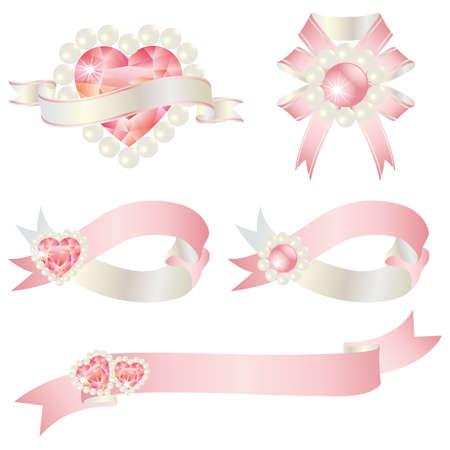 pink ribbon: jewelry ribbon
