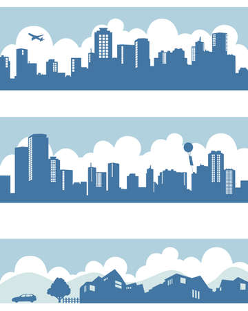 town and city Stock Vector - 11650361