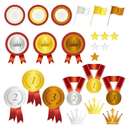 silver medal: rank set