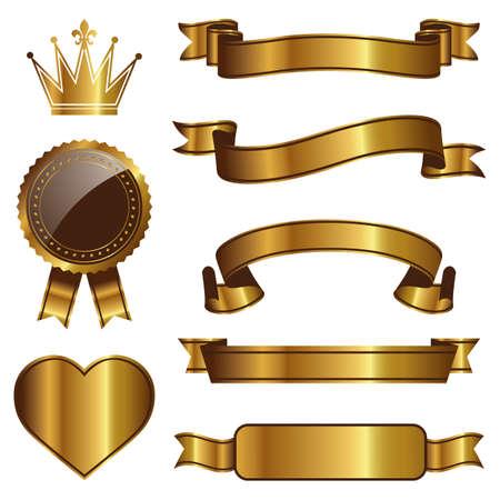 nastro angolo: emblema set