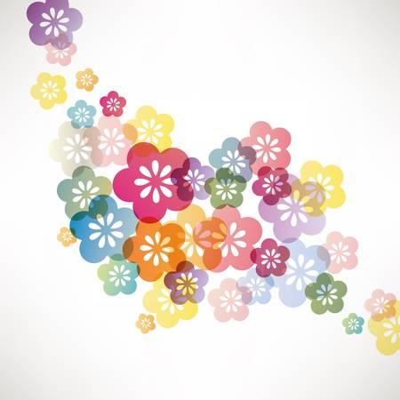 ностальгический: японский фон абрикос Иллюстрация