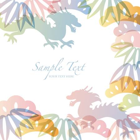 dragon fruit: dragon background Illustration