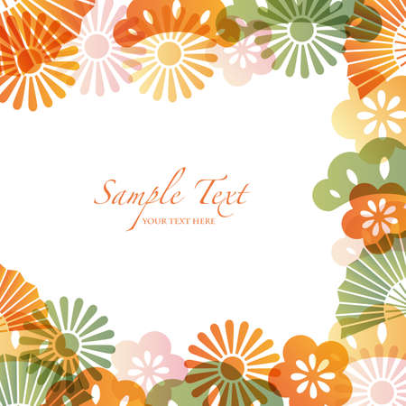 subject matter: japanese motif background Illustration
