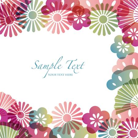 japanese flower: japanese motif background Illustration