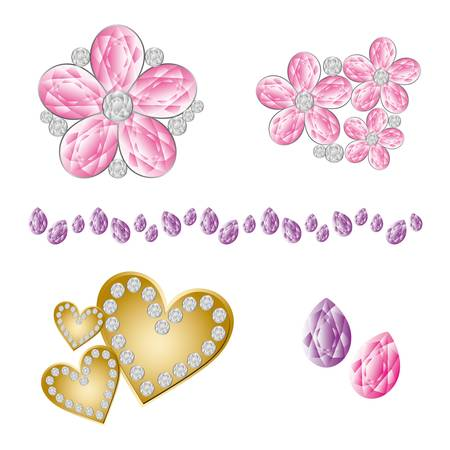 cute jewelry Vector