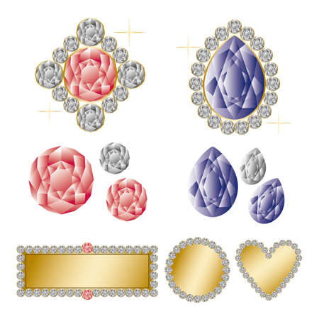 jewelry set Vector