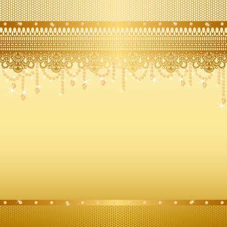 �gold: joyas y encajes de fondo