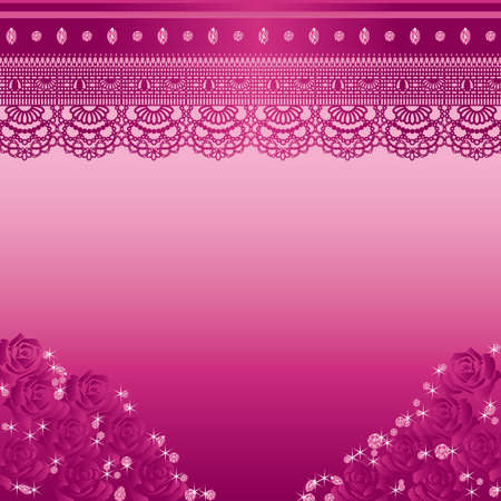 diamond clip art: jewelry and lace background Illustration