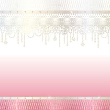 jewelry and lace background Ilustração