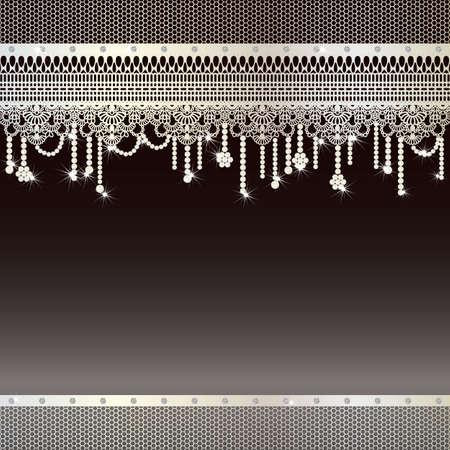 sieraden achtergrond Vector Illustratie