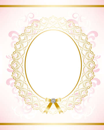 pink satin: bridal frame
