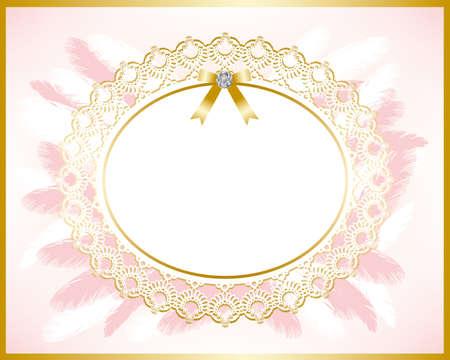 bridal frame pink