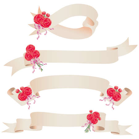 carnation ribbon Vector