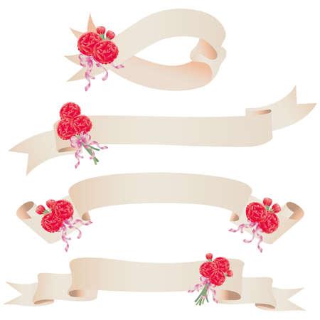carnation ribbon Vector