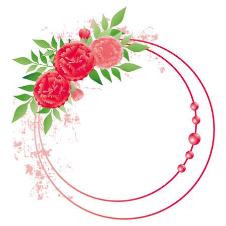carnation frame  イラスト・ベクター素材