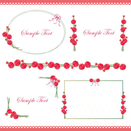 the carnation: carnation line and frame