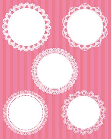 doily: circle lace set Illustration