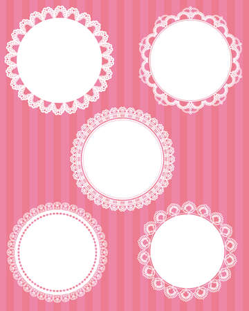 doilies: encaje c�rculo conjunto
