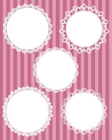 doilies: c�rculo de conjunto de encaje