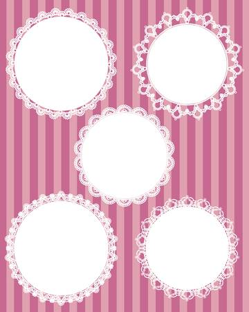 circle lace set Vector