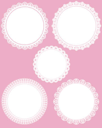 embroidery flower: circle lace