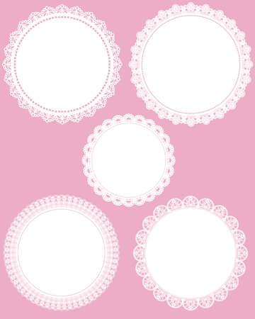 lace doily: circle lace