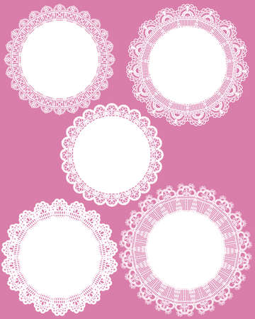lace frame set Vector