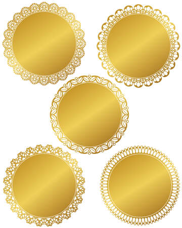 circle lace set Vector