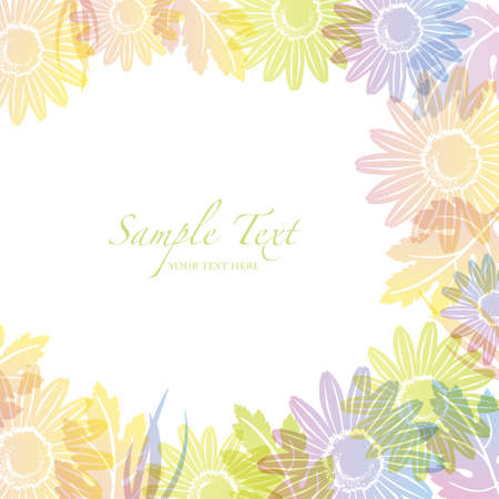 spring background with daisy Vector