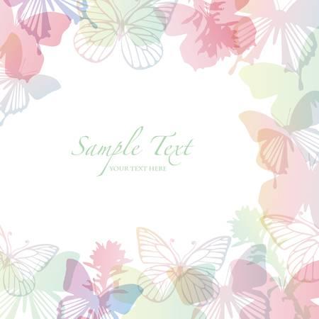 papillon rose: fond de printemps avec le papillon Illustration