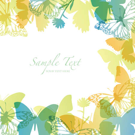spring background with butterfly Vector