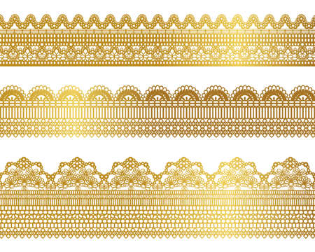 gold lace set Vector