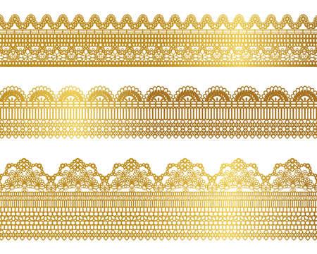 gold lace set Vector