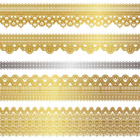 gold lace set