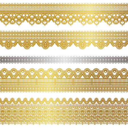 lace: conjunto de encaje de oro