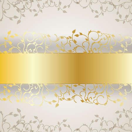 gold decorations: marco de fondo abstracto