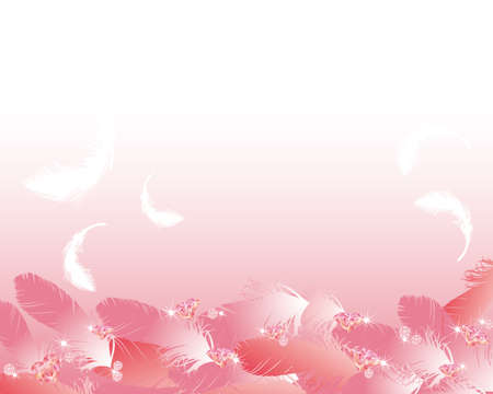 jewelry and feather background Vector