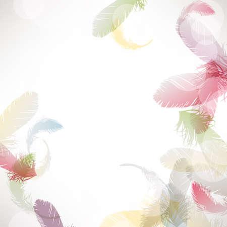 カラフルな羽毛の背景  イラスト・ベクター素材