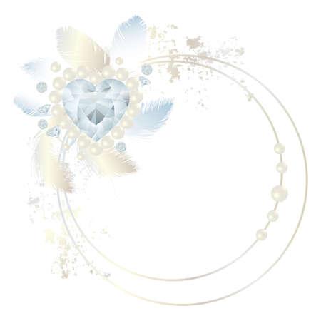 heart diamond: feather frame