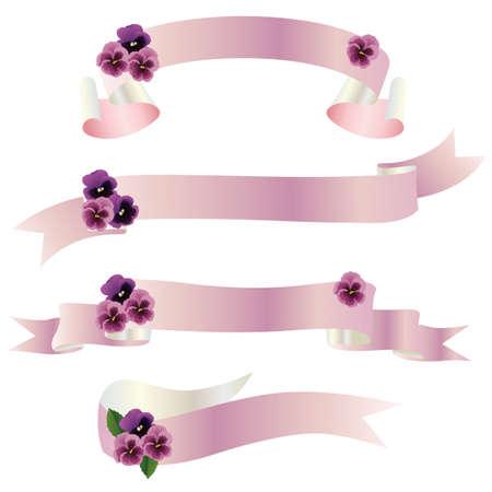 flor morada: pensamiento cinta