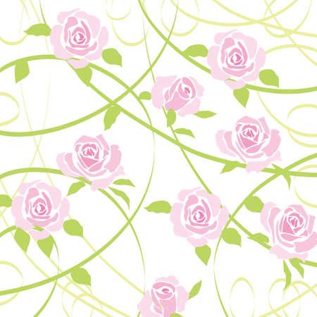 graphic pastel: rose background