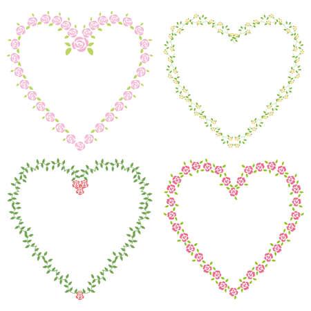 love story: rose heart set